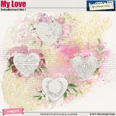My Love  Embellishment Mini Decorations 2 by Aftermidnight Design