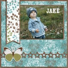 """Jake"" digital scrapbook layout by Darryl Beers"