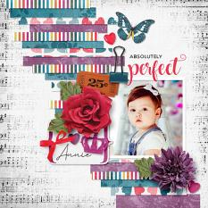 """Absolutely Perfect"" digital scrapbook layout by Darryl Beers"