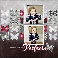 """""""Perfect"""" digital scrapbook layout by Andrea Hutton"""