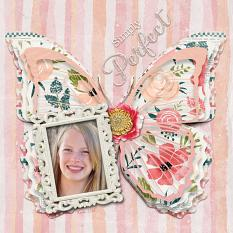 """""""Simply Perfect"""" digital scrapbook layout by Sondra Cook"""