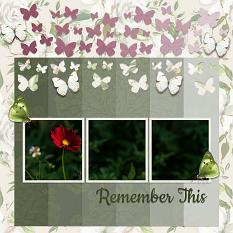 """""""Remember This"""" digital scrapbook layout by Carmel Munro"""