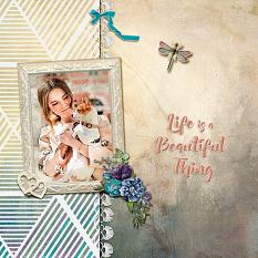 """Life is a Beautiful Thing"" digital scrapbook layout by Geraldine Touitou"