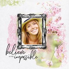Scrapbook layout created with Ordinary Magic layout templates