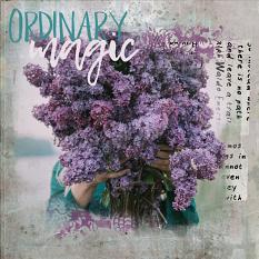 Scrapbook page created with Ordinary Magic layout templates