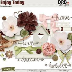 Enjoy Today Embellishment by DRB Design Studio | ScrapGirls.com