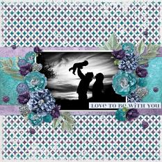 """Love to be with You"" digital scrapbook layout by Teresa Burton"