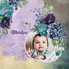 """Marcus"" digital scrapbook layout by Darryl Beers"