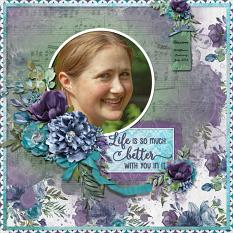 """Life is Better"" digital scrapbook layout by Sue Maravelas"