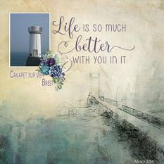 """Camaret Sur Mer Brest"" digital scrapbook layout by Marie Hoorne"