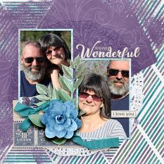 """You are Wonderful"" digital scrapbook layout by Amy Flanagan"