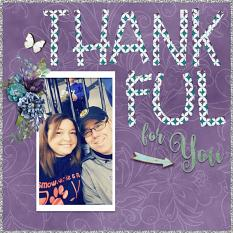 """""""Thankful for You"""" digital scrapbook layout by Shannon Trombley"""