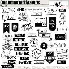 Documented Stamps Word Art