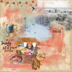 Layout bu Marie Orsini using Cozy Winterevenings Collection by Aftermidnight Design