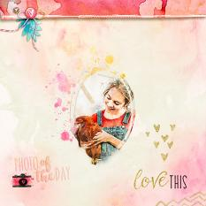 Scrapbook layout uses Fabulous Frames Vol. 2 Digital Brushes