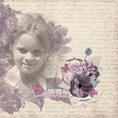 """""""You are so Loved"""" digital scrapbook layout by Vikki Lamar"""