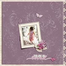 """""""You are so Loved"""" digital scrapbook layout by Geraldine Touitou"""