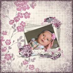 """""""You are so Loved"""" digital scrapbook layout by Sue Maravelas"""