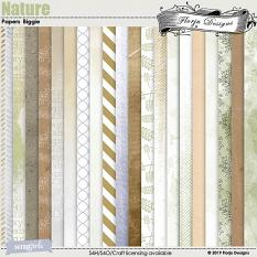 Nature Papers Biggie by Florju Designs