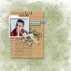 layout using Nature Papers Biggie by Florju Designs