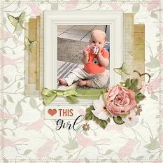 """This Girl"" digital scrapbook layout by Andrea Hutton"