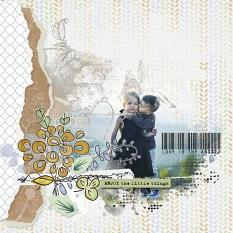 layout using Nature Embellishments Mini : Torn Papers by Florju Designs