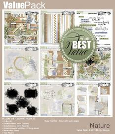 layout using Nature Embellishments Mini : Watercolor Stamp by Florju Designs