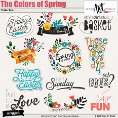 The Colors of Spring Word Art