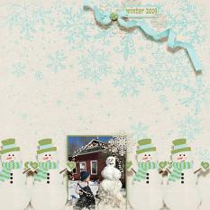 """Winter 2019"" digital scrapbook layout by Debby-Leonard"