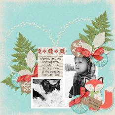 """""""Mommy and Me"""" digital scrapbook layout by Teresa Burton"""