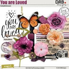 You are Loved Embellishment by DRB Designs | ScrapGirls.com