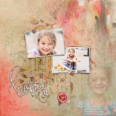 Scrapbook page by Geraldine Touitou using Blended Masks Vol.2