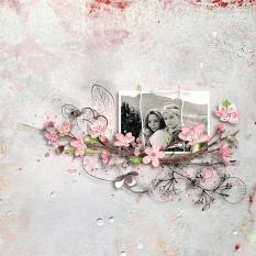 Layout using ScrapSimple Digital Layout Collection:Beautiful Mind