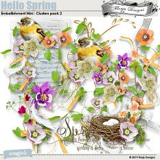 Hello Spring Embellishment Mini : Clusters Pack 2 by florju designs