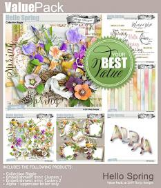 layout using Hello Spring Embellishment Mini : Clusters Pack 2 by florju designs