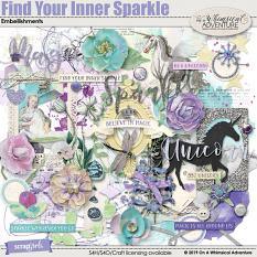 Find Your Inner Sparkle Embellishments by On A Whimsical Adventure