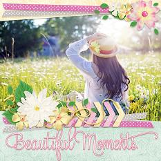 Beautiful Moments digital scrapbook layout by Laura Louie