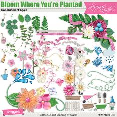 Bloom Where You're Planted Embellishment Biggie