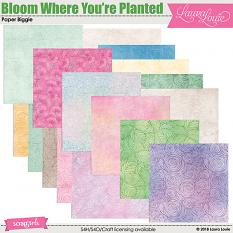 Bloom Where You're Planted Paper Biggie