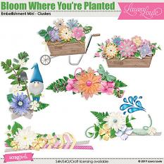 Bloom Where You're Planted Embellishment Mini Clusters