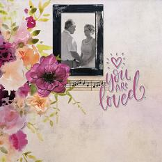 """You are Loved"" digital scrapbook layout by Marie Hoorne"