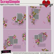 ScrapSimple Digital Layout Templates:Paradise
