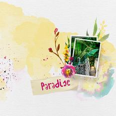 Layout using ScrapSimple Digital Layout Templates:Paradise