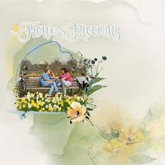Layout using ScrapSimple Digital Layout Collection:Flowers Blooming