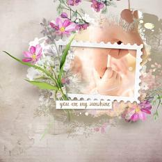 layout using Beautiful Summer Collection by Florju Designs