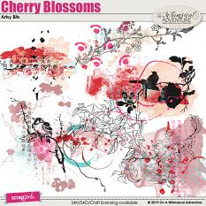 Cherry Blossoms Artsy Bits by On A Whimsical Adventure