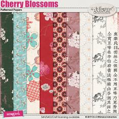 Cherry Blossoms Patterned Papers by On A Whimsical Adventure