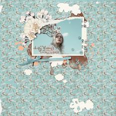 Digital layout using Cherry Blossoms by On A Whimsical Adventure