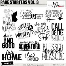 Page Starters Volume 3 Word Art