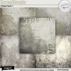Scrapsimple Papers Templates vintage 1